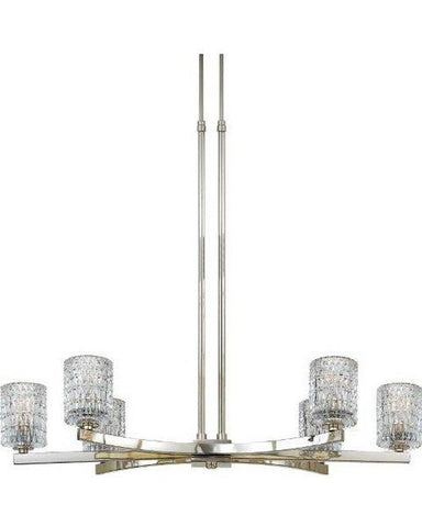 Quoizel Lighting RAN640 IS Raffine Collection by Richard Soard Six Light Chandelier in Imperial Silver Finish - Quality Discount Lighting