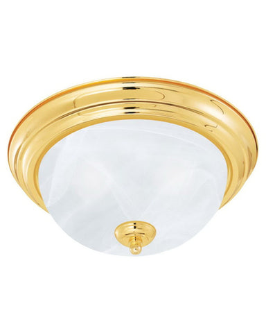 Epiphany Lighting ESCM432-39 PB Three Light Energy Saving Fluorescent Flush Mount in Polished Brass Finish - Quality Discount Lighting
