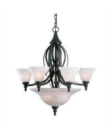 Kichler Lighting 34116 Seven Light Chandelier in Tannery Bronze Finish - Quality Discount Lighting