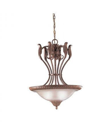 Kichler Lighting 34129 Three Light Pendant Chandelier in Seine Crackle Finish - Quality Discount Lighting