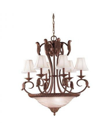 Kichler Lighting 34130 Nine Light Chandelier in Seine Crackle Finish - Quality Discount Lighting