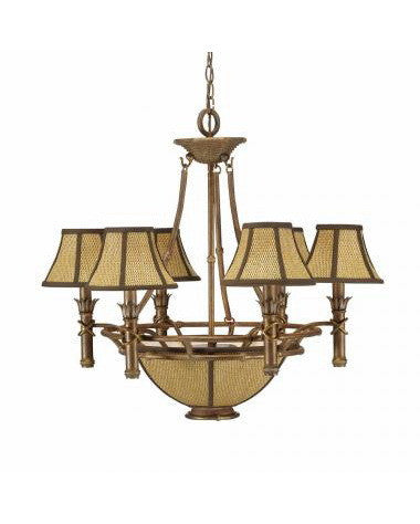 Kichler Lighting 34145 Six Light Chandelier in Island Gold Finish - Quality Discount Lighting