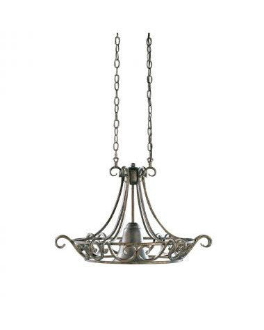 Kichler Lighting 34149 One Light Chandelier in Black Wrought Iron Finish - Quality Discount Lighting