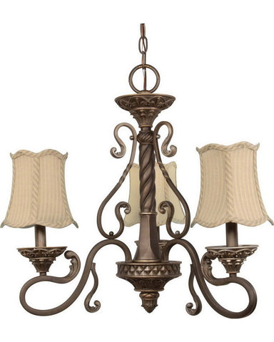 Nuvo Lighting 60-1145 Celeste Collection Three Light Chandelier in Gold Coast Finish - Quality Discount Lighting