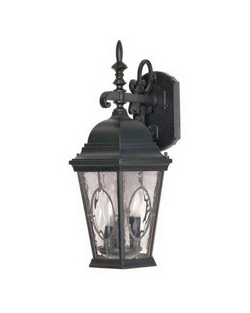 Nuvo Lighting 60-793 Fordham Collection Three Light Exterior Outdoor Wall Lantern in Textured Black Finish - Quality Discount Lighting