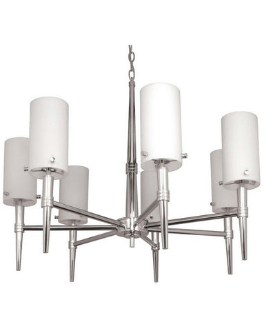 Nuvo Lighting 60-1065 Jet Collection Seven Light Chandelier in Polished Chrome Finish - Quality Discount Lighting