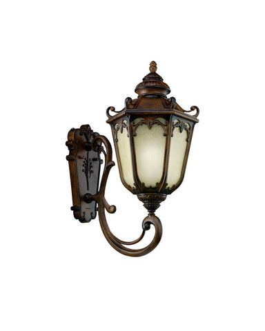 Kichler Lighting 11049 BST McCullam Collection One Light Energy Efficient Fluorescent Outdoor Exterior Wall Lantern in Brownstowne Finish - Quality Discount Lighting