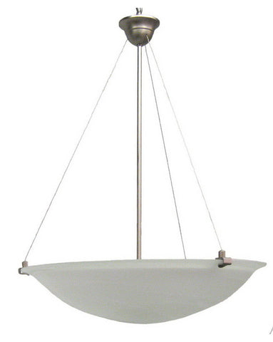 Epiphany Lighting ESP148-70 BN One Light High Wattage Energy Efficient Fluorescent Hanging Pendant Chandelier in Brushed Nickel Finish - Quality Discount Lighting