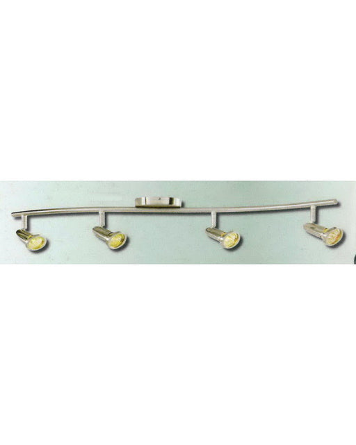 Epiphany Lighting PT4104 BN Four Light Semi Flush or Drop Pendant in Brushed Nickel Finish
