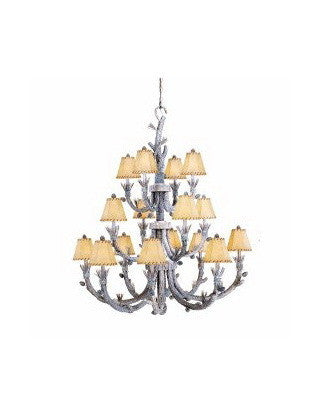 Vaxcel Lighting AS-CHS016 SW Sixteen Light Aspen Collection Chandelier in Snow Finish