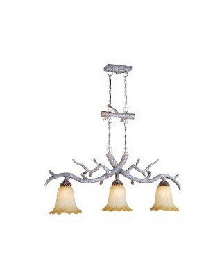 Vaxcel Lighting AS-PDD500 SW Three Light Aspen Collection Isand Chandelier in Snow Finish - Quality Discount Lighting