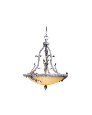 Vaxcel Lighting AS-PDU330 SW Six Light Aspen Collection Pendant Chandelier in Snow Finish