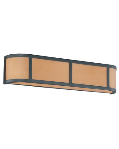 Nuvo Lighting 60-3823 Odeon Collection Three Light Energy Star Efficient Fluorescent GU24 Bath Vanity Wall Mount in Aged Bronze Finish - Quality Discount Lighting