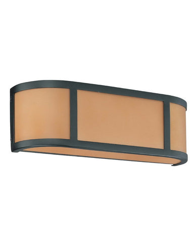 Nuvo Lighting 60-3822 Odeon Collection Two Light Energy Star Efficient Fluorescent GU24 Bath Vanity Wall Sconce in Aged Bronze Finish - Quality Discount Lighting