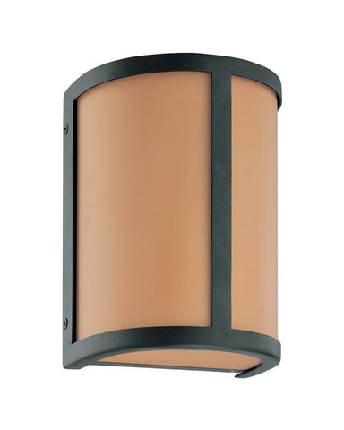 Nuvo Lighting 60-3821 Odeon Collection One Light Energy Star Efficient Fluorescent GU24 Wall Sconce in Aged Bronze Finish - Quality Discount Lighting