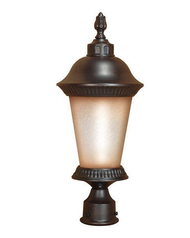 Nuvo Lighting 60-2505 Clarion Collection One Light Energy Efficient Fluorescent Exterior Outdoor Post Lantern in Chestnut Bronze Finish - Quality Discount Lighting