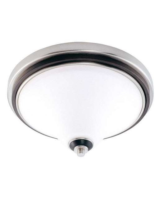 Nuvo Lighting 60-2459 Keen Collection Three Light Energy Star Efficient Fluorescent GU24 Flush Ceiling Mount in Brushed Nickel Finish - Quality Discount Lighting