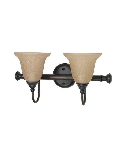 Nuvo Lighting 60-2423 Mericana Collection Two Light Energy Star Efficient Fluorescent GU24 Bath Vanity Wall Mount in Old Bronze Finish - Quality Discount Lighting