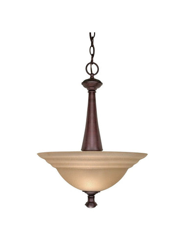 Nuvo Lighting 60-2418 Mericana Collection Two Light Energy Star Efficient Fluorescent GU24 Pendant Chandelier in Old Bronze Finish - Quality Discount Lighting