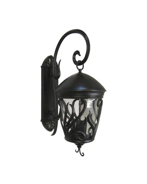 Kalco Lighting 9272 BBCLR Three Light Outdoor Exterior Wall Lantern in Burnished Bronze Finish - Quality Discount Lighting