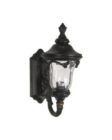 Kalco Lighting 9061 BBCLR One Light Outdoor Exterior Wall Lantern in Burnished Bronze Finish - Quality Discount Lighting