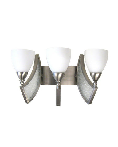 Kalco Lighting 5363 SN Three Light Bath Vanity Wall Mount in Satin Nickel Finish - Quality Discount Lighting