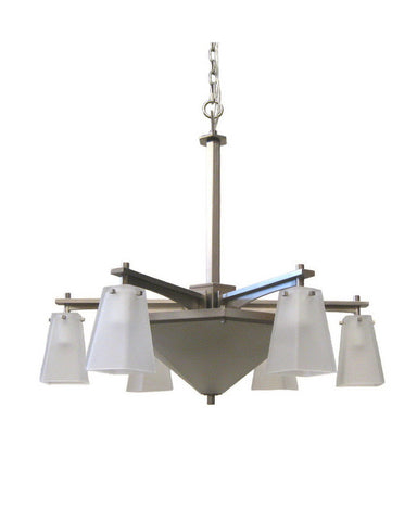 Kalco Lighting 4466 SN Nine Light Chandelier in Satin Nickel Finish - Quality Discount Lighting