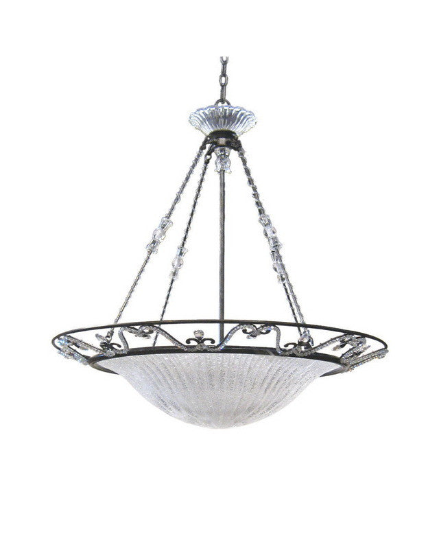 Kalco lighting 4359 vo six light hanging pendant chandelier in veneto finish quality discount lighting