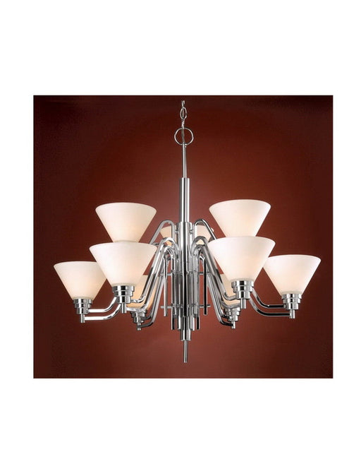 Vaxcel Lighting CH28109 CH Nine Light Chandelier in Polished Chrome Finish - Quality Discount Lighting