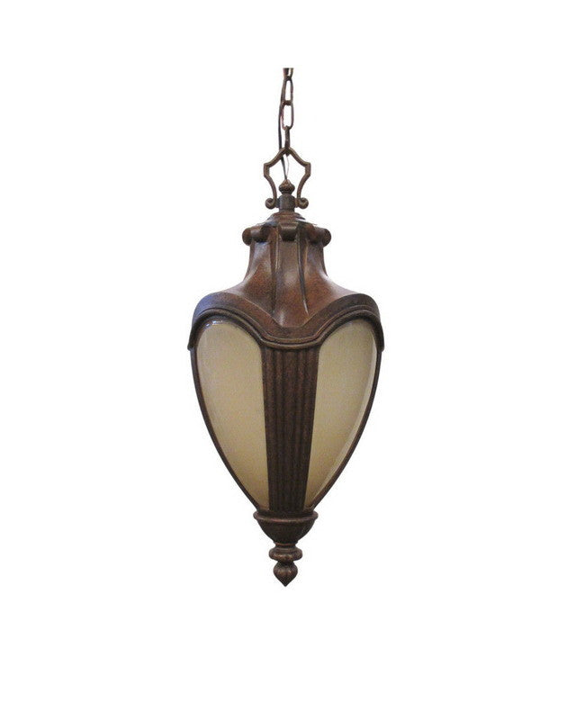 Kalco lighting 9526 to one light exterior outdoor hanging lantern in tortoise finish quality discount