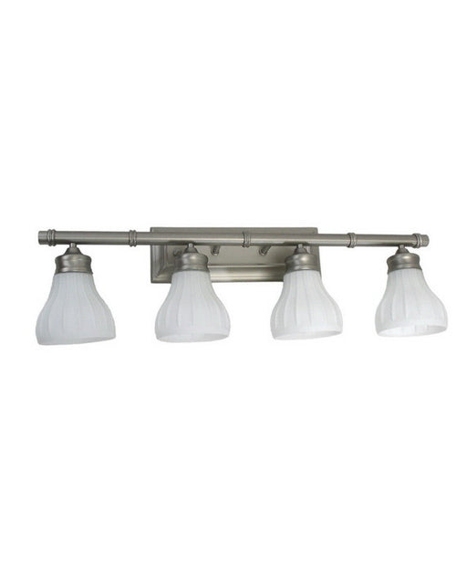 Trans Globe Lighting 6124 BN Four Light Bath Vanity Wall Mount in Brushed Nickel Finish