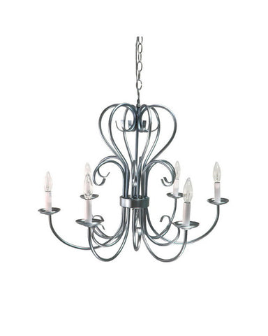 Epiphany Lighting 100236 BN Six Light Chandelier in Brushed Nickel Finish - Quality Discount Lighting