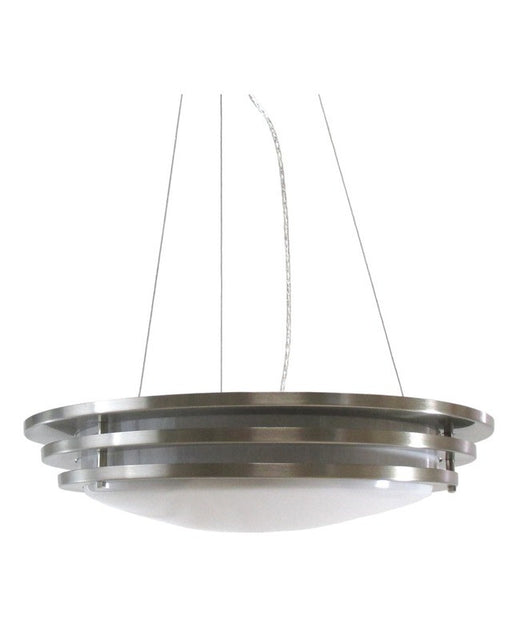 Epiphany Lighting 104793 BN Contemporary Energy Saving Fluorescent Pendant Chandelier in Brushed Nickel Finish
