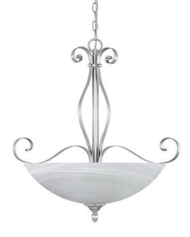 Designers Fountain Lighting 82831 MTP Del Amo Collection Three Light Hanging Pendant Chandelier in Matte Pewter Finish - Quality Discount Lighting