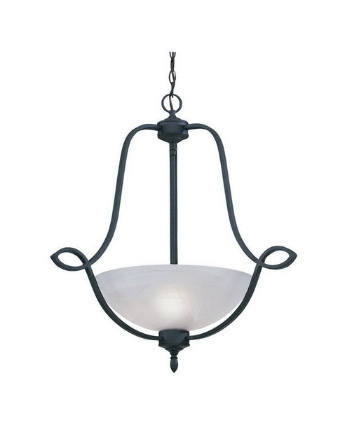 Designers Fountain Lighting 5823 NI Mirande Collection Three Light Hanging Pendant Chandelier in Natural Iron Finish - Quality Discount Lighting