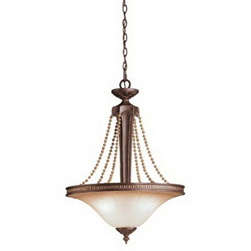 Kichler Lighting 4502 Three Light Hanging Pendant Chandelier in Carre Bronze Finish - Quality Discount Lighting