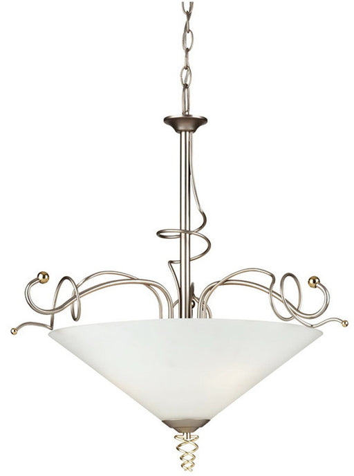 Forecast Lighting F1215-62 Twist Collection Pendant in Metallic Silver Finish with Brass Accents