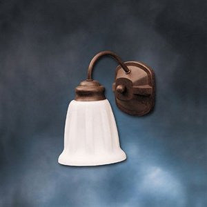 Kichler Lighting 10671 TZ Country Living Collection One Light Energy Efficient Fluorescent Wall Sconce in Tannery Bronze Finish - Quality Discount Lighting