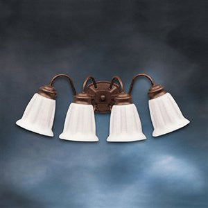 Kichler Lighting 10674 TZ Country Living Collection Four Light Energy Efficient Fluorescent Bath Vanity Wall Mount in Tannery Bronze Finish - Quality Discount Lighting