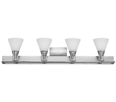 Forecast Lighting F4586-36 Haven Collection 4 Light Bath Wall in Satin Nickel Finish - Quality Discount Lighting
