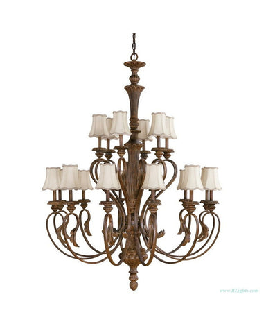 Kichler Lighting 2342 WSG Chauncey Eighteen Light Hanging Chandelier in Weathered Sage Finish - Quality Discount Lighting