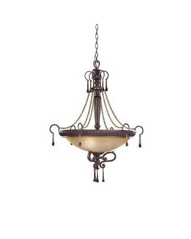 Kichler Lighting 34058 Three Light Chandelier Pendant in Brulee Finish - Quality Discount Lighting