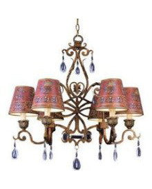 Trans Globe Lighting 2265 LC Six Light Chandelier in Lincoln Copper Finish - Quality Discount Lighting