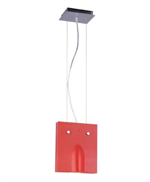 Trans Globe Lighting MDN-514 RED One Light Mini Pendant with Red Glass - Quality Discount Lighting