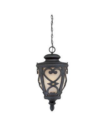 Quoizel Lighting FQ1914 MKFL01 French Quarter Collection One Light Energy Saving Fluorescent Exterior Outdoor Hanging Lantern in Marcado Black Finish - Quality Discount Lighting