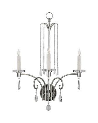 Quoizel Lighting RAK8703 IS Three Light Wall Sconce Annika Collection in Imperial Silver with Crystal Accents SPECIAL PRICE - Quality Discount Lighting