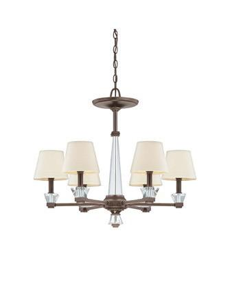 Quoizel Lighting DX5006 PN Deluxe Collection Six Light Chandelier in Paladian Bronze Finish - Quality Discount Lighting