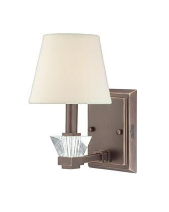 Quoizel Lighting DX8701 PN Deluxe Collection One Light Wall Sconce in Paladian Bronze Finish - Quality Discount Lighting