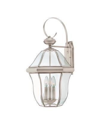 Quoizel Lighting SX8413 P Sussex Collection Three Light Exterior Outdoor Wall Lantern in Pewter Finish - Quality Discount Lighting