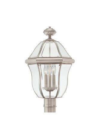Quoizel Lighting SX9013 P Sussex Collection Three Light Exterior Outdoor Post Lantern in Pewter Finish - Quality Discount Lighting
